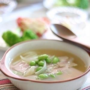 おつまみ以外にも使える!「枝豆」のスープアレンジ5選