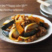 ボリューム満点!お弁当にも★かぼちゃと豚肉の生姜焼き