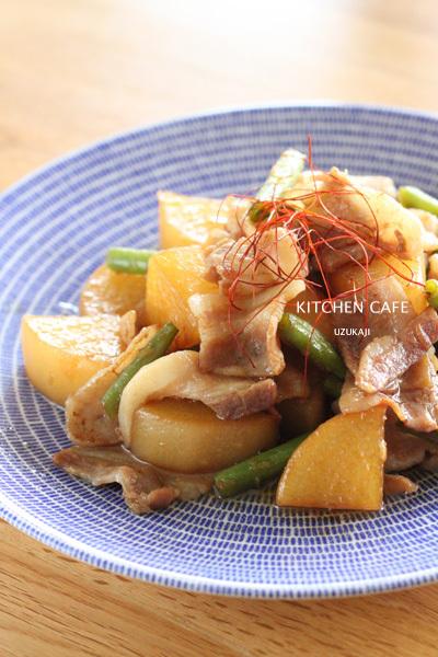 豚バラ肉と大根の炒め煮