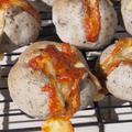 HBでお家パン♡ゴマゴマチーズのボルケーノ