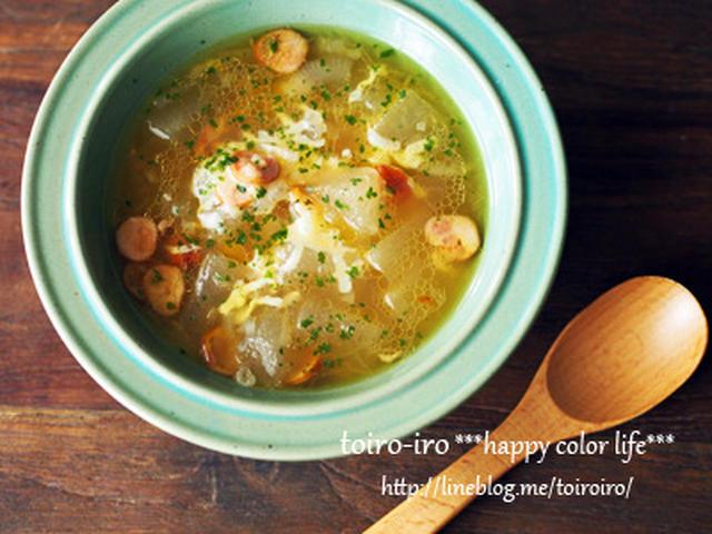 チーズ入り冬瓜のスープ