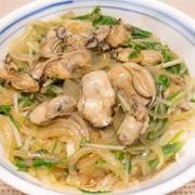 牡蠣と水菜のあんかけ丼
