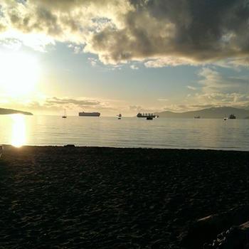 キツラノビーチの夕焼け