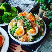 抱えて食べたい絶品サラダ❤️ブロッコリーと味卵の和風ツナマヨサラダ❤️