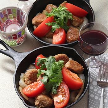 肉団子とトマトのすき焼き