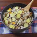 ほっこり秋を感じる さつまいもと豚肉、ぶなしめじの炊き込みごはん by KOICHIさん