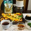 【ベジタリアンの朝ご飯は 万能柚子ドレッシングで焼き野菜とおにぎりにコーヒーが付きます♪】 by あきさん
