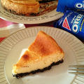 オレオとの相性ピッタリ♡ベイクドチーズケーキ。