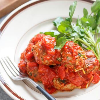 ミートボールのトマト煮【#作り置き #お弁当 #包丁不要 #クリスマス #お正月 #おもてなし #主食】