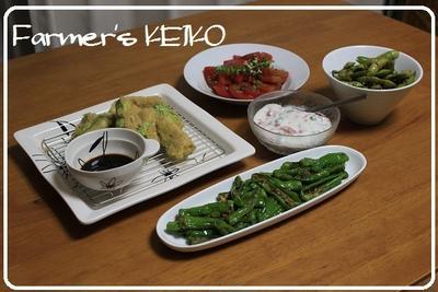 野菜づくしの晩御飯