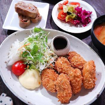 夜カフェ☆牡蠣フライな夜ごはん☆伏見稲荷~