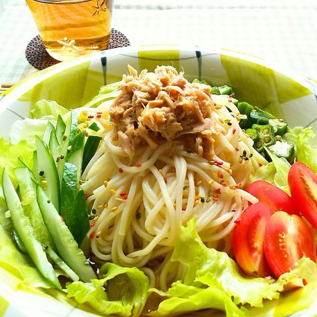 サラダ冷麦☆