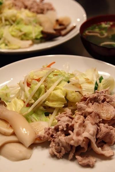 豚肉と野菜の茹で盛り合わせ