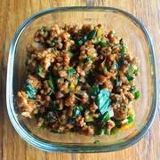 【ニラ】春のニラは最高です!「ニラと豚ひき肉の甜麺醤肉味噌」
