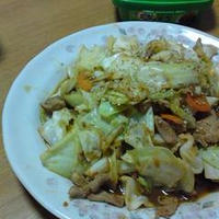 肉野菜のサムジャン炒め