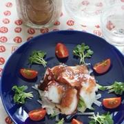 「たこ梅サラダ(レシピ)」と居酒屋メニュー