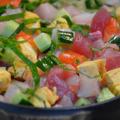 ストウブホットプレートで「海鮮丼」アイデアSUSHI