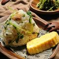 お弁当に〜豆苗とツナのめんつゆオイルおにぎり〜村上農園✖nadiaコラボ企画