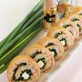 レシピ*ピリッと辛い大人お稲荷さん。父の日に、七味風味ねぎチーズロール稲荷寿司 by BiBiすみれさん