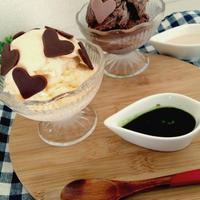 スライス生チョコで★抹茶アフォガートとミルクアフォガード❤〜アイス好きからのぽっちゃり系