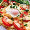 【油揚げピザ】トマトとにんにくのビスマルク風(動画有)