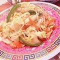 野菜炒め ガーリックライス