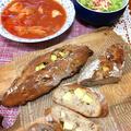 鶏むね肉のトマト煮、手作りパン