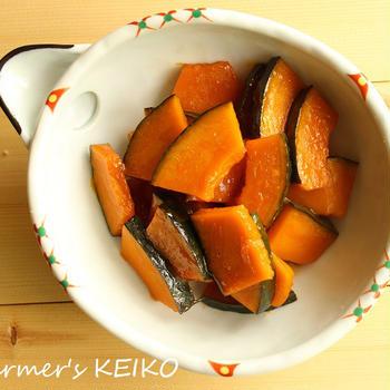 かぼちゃをオレンジジュースで煮込んだだけ!爽やか♪『かぼちゃのオレンジ煮』