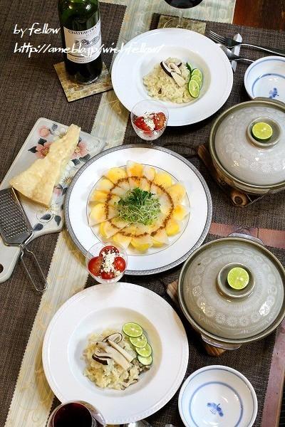 ◆がっつり松茸の土瓶蒸しと松茸まみれのリゾット♪