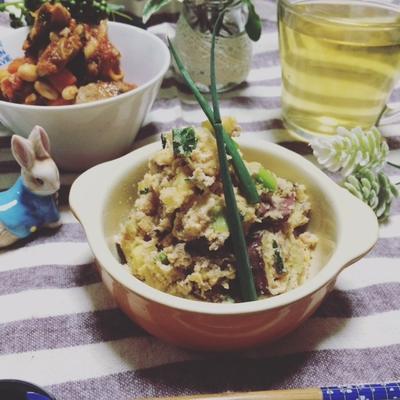 かさまし副菜に…おからミンチ♪さつま芋のポテトサラダ