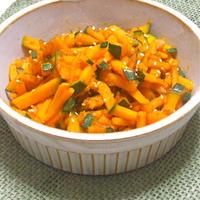 超簡単なのに美味しい〜!カボチャの炒め焼き。