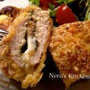 鶏の明太チーズ入りカツレツ・ノンフライでヘルシー♪