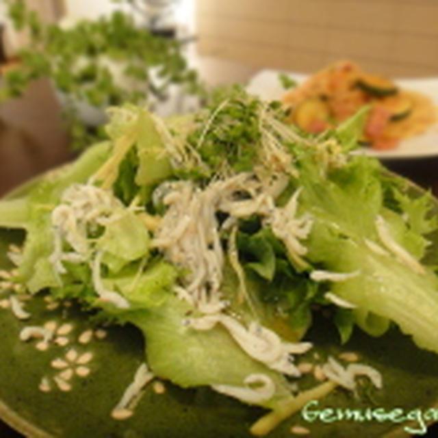 熱々ごま油のレタスサラダ