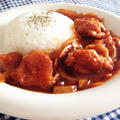 簡単♪ 定番調味料だけで作るチキンハヤシライス♪ぷりぷり鶏もも肉