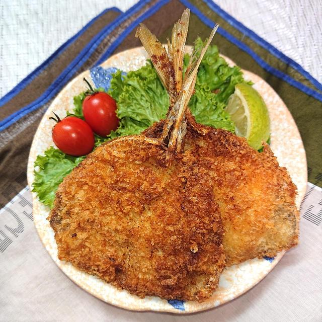 釣った魚でアジフライ(小麦粉不要)臭み取り方法