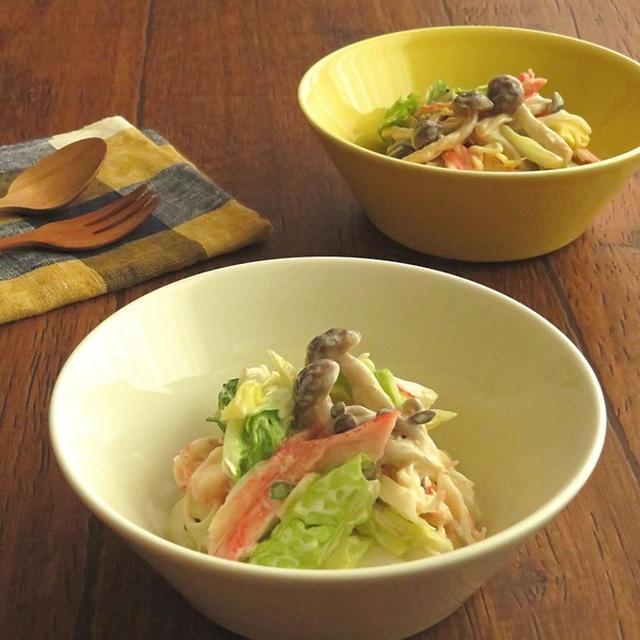 レンジで簡単☆しめじと白菜のさっぱりマヨサラダ