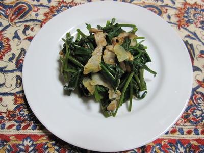 『空芯菜の炒め物』