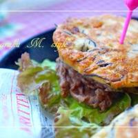ソルガムきびで~ヒジキの牛肉バーガーパンケーキ ~ &音楽アプリ