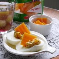 【うちレシピ】デビルエッグ風★簡単おつまみ / 【参加中】おそとで楽しむ♪プレジデント チーズレシピ」レシピモニター