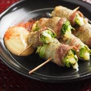 レタス焼き鳥 、 豚バラ肉のレタス巻き