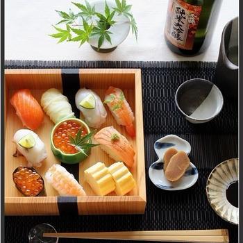 ひとりご飯の、おうち寿司♪