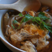 お疲れ様に。きのこと塩麹の簡単スープ。