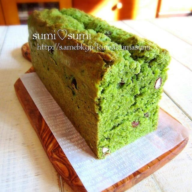 HMで簡単基本♡抹茶と小豆の和パウンドケーキ♡
