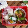 【キャラ弁?デコ弁?】~シールで簡単☆金魚ラップロールサンドのお弁当~ by Rito.さん