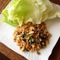 タイ風挽肉のレタス包み