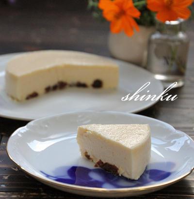 とろける幸せ*ラムレーズンニューヨークチーズケーキ。