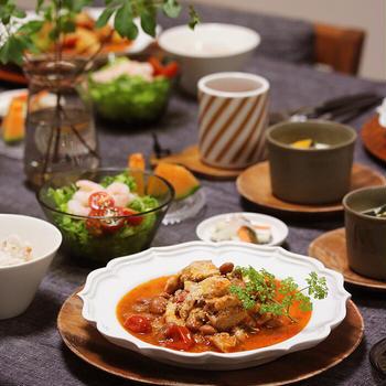 【献立】鶏肉と豆のトマト煮。~最近の晩ご飯は21時スタート~