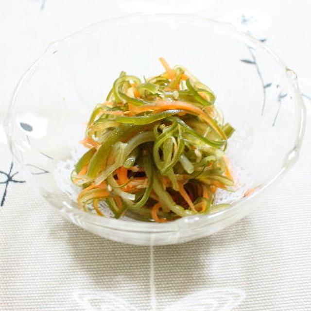 茎わかめとにんじんの中華風サラダ レシピ