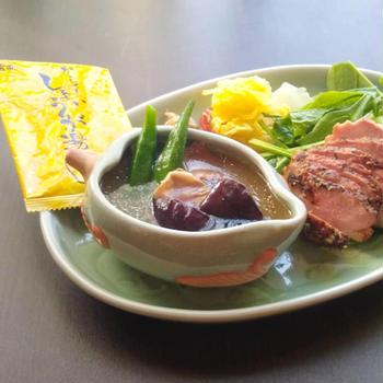 身体が温まる〜♫ 生姜スープワンプレート。から~いしょうが湯