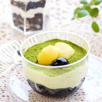 『黒豆と栗の抹茶ティラミス』簡単デザート、おやつ、お菓子